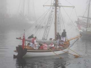 Badger - rowing in the fog